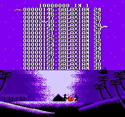 "100-in-1 Contra Function 16  <span title=""A ROM image which has been corrupted because the original game is very old, because of a faulty dumper (bad connection) or during its upload to a release server. These ROMs often have graphic errors or sometimes don't work at all."" class=""label"">Bad dump 1</span> <span title=""A dump of a pirated version of a game. These ROMs often have their copyright messages or company names removed or corrupted."" class=""label"">Pirated version 1</span>  - Screenshot 3/5"